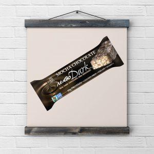 חטיף בריאות טבעוני NuGo Dark ללא גלוטן – בטעם מוקה שוקולד (מארז של 12 יח')