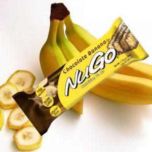 חטיף בריאות NuGo – בטעם בננה (מארז של 15 יח')