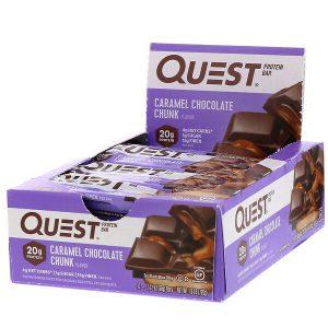 חטיף חלבון Quest – בטעם שוקולד כרמל (מארז של 12 יח')